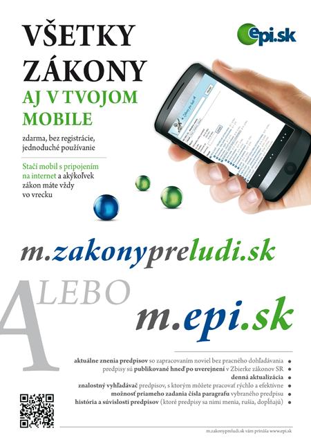 Všetky zákony aj v tvojom mobile