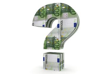 otáznik z eurobankoviek