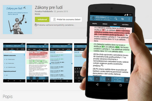 Mobilná aplikácia Zákony pre ľudí